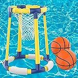 AOLUXLM Pool Toys Basketball Hoop Sets - Floating Pool Basketball Hoop Toy for Swimming Pool,...