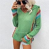 X&Armanis Pullador de Cuello en V de Las Mujeres suéter de la Moda Casual con...
