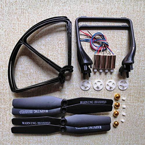 YNSHOU Funzionale Elica per JJRC H68 A20 A8 YidaJia D68 Quadcopter Drone Accessori Set Motori Eliche Atterraggio Skid Telaio di Protezione ECC. Kit di Parti Accessori per droni (Colore: Bianco)