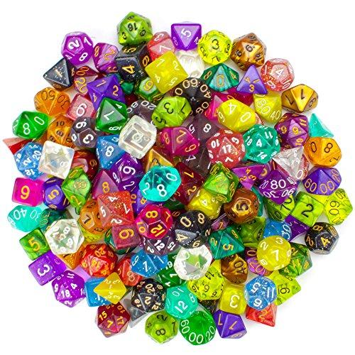 Wiz Dice Series II 100+ Pack of Random Polyhedral Dice - 15 Guaranteed Sets of...