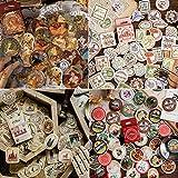 4 boîtes Vintage Autocollants Voyage Kraft Décoratif, 180 Stickers...