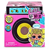 L.O.L. Surprise, Remix Hair Flip - 15 Surprises Dont 1 Poupée 8 cm, 1 Tiny Disque à écouter sur Le Speaker, Modèles Aléatoires à Collectionner, Jouet pour Enfants dès 3 Ans, LLUG8