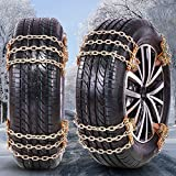 NICEASY 2021 Upgraded Universal Snow Chains,Tire Chains for SUV,Truck,RV of Tire Width 215-295 mm (8.5-11.6 inch),Heavy Duty,Thickened,Adjustable,Durable (6 Pack)