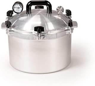 All American 915 Canner Pressure Cooker, 15.5 qt, Silver