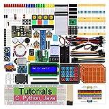 Kit de démarrage Freenove Ultimate pour Raspberry Pi 4 B 3 B +, 434 pages de didacticiels détaillés, Python C Java, 223 articles, 57 projets, apprentissage de l'électronique et de la programmation, planche à pain sans soudure