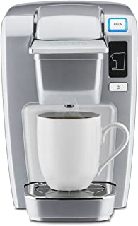 Keurig K15 Coffee Maker, Single Serve K-Cup Pod Coffee Brewer, 6 to 10 oz. Brew Sizes, Platinum