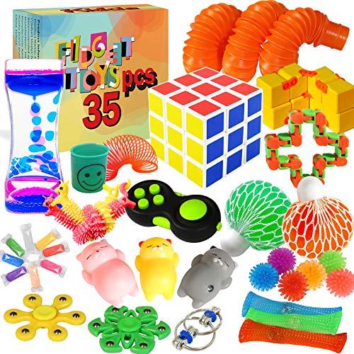 Kidcia Fidget Toys, 35 PCS Sensory Toys for Adults /Kids...
