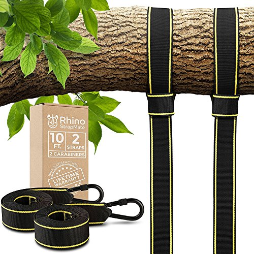 Tree Swing Straps Hanging Kit - Two 10ft Straps, Holds 2800 lbs (SGS...