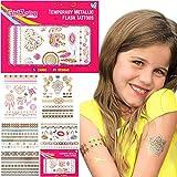 GirlZone Regalos para Niñas - Tattoos Infantiles Tatuajes Niñas - Pack de 65 Tatuajes Temporales...