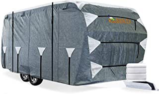 KING BIRD Upgraded Travel Trailer RV Cover, Extra-Thick 5 Layers Anti-UV Top Panel,..
