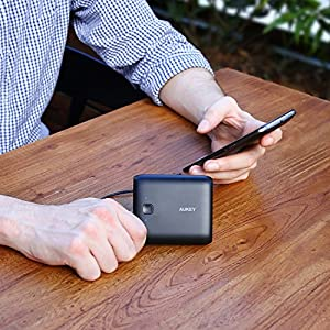 AUKEY 10000mAh Portable Charger, 3.1A Dual USB Output with AiPower Charging Technology for iPhone X / 8 / 8 Plus, iPad, Samsung Galaxy, and More