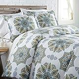 Southshore Fine Living, Inc. The Infinity Collection Comforter Sets, 3 Piece Set, Full/Queen, Aqua