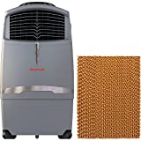 Honeywell 525 CFM Swamp Remote Control in Gray with Bonus Replacement Filter Indoor/Outdoor Evaporative Air Cooler