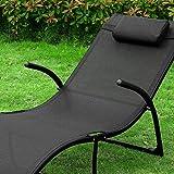Sonnenliege klappbar Gartenliege Relaxstuhl Liegestuhl mit Kopfkissen Klappliege - 3