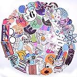 LANYU Paquete de Pegatinas Muy Bonitas Fresh Wind Girl para el portátil, teléfono, Equipaje, Maleta, Viaje, Guitarra, Nevera, Pegatina Impermeable, 50 Piezas