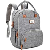 Diaper Bag Backpack, RUVALINO Multifunction Travel Back Pack Maternity Baby Changing Bags, Large...