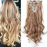 S-noilite 24' (60 cm) extensiones de cabello cabeza completa clip en extensiones de pelo Ombre...