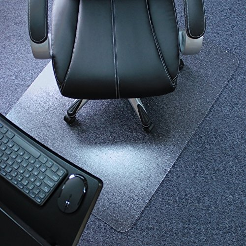 Marvelux 36' x 48' Heavy Duty Polycarbonate Office Chair Mat for Low, Standard and Medium Pile Carpeted Floors | Rectangular Transparent Carpet Protector | Shipped Flat | Multiple Sizes