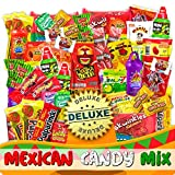 Mexican Candy Mix Assortment Snack (86 Count) Dulces Mexicanos Variety Of Best Sellers Sweet, SPICY and SOUR Bulk candies, Includes Luca Candy, Pelon, Pulparindo, Rellerindo, by JVR TRADE (SPICY)