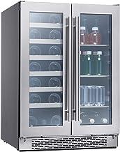 Zephyr Presrv Dual Zone Wine & Beverage Cooler with Glass French Door. 24 Inch 5.15..