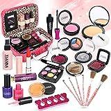 Dreamon Maquillaje para Niñas, 24 PCS Cosméticos Lavables con Estuche Maquillaje, Regalo para Niña 5 Años