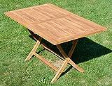 ASS ECHT Teak Holz Klapptisch Holztisch Gartentisch Tisch in verschiedenen Größen - 6
