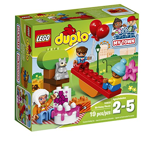 LEGO DUPLO My Town Birthday Party 10832, Preschool, Pre-Kindergarten Large Building Block Toys for Toddlers