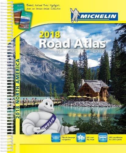 Michelin 2018 Road Atlas USA Canada Mexicao