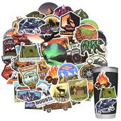 Stickers for Water Bottles Outdoor, Nature Stickers Camping Stickers Adventure Stickers for Yeti Stickers for Cooler Stickers and Decals Waterproof Vinyl Stickers for Teens Boys Kids,Girls 50Pcs