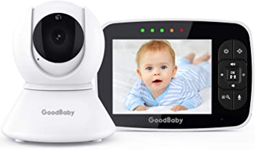 "Baby Monitor with Remote Pan-Tilt-Zoom Camera|Keep Babies Safe with 3.5"" Large Screen,.."