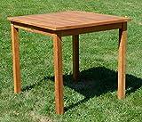 ASS Teak Holztisch Gartentisch Garten Tisch 80x80cm Gartenmöbel Holz sehr robust - 5