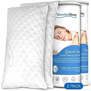 WonderSleep Premium Adjustable Loft [Queen Size 2-Pack] – Shredded Hypoallergenic..