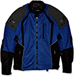 Joe Rocket 1516-4206 Phoenix Ion Men's Mesh Motorcycle Jacket (Blue, XX-Large)