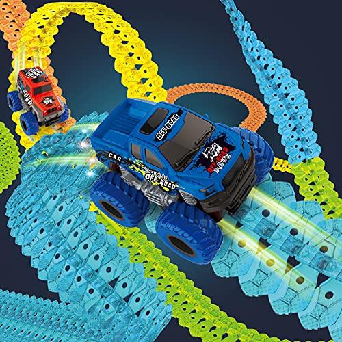 Race Track for Boys and Kids, 240PCS Flexible Zero Gravity Magic Car...