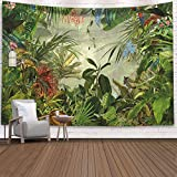 Tapiz de plantas tropicales hoja colgante de pared dormitorio tapiz arte tela de...