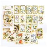 サイズ:画像をご覧ください,パッキングボックスのサイズ15*9cm 数量:30種類が2枚ずつで60枚の.サイズ ,1片約4 -9.5cm,スタンプ用の装飾ステッカー 切手の装飾,あらゆる種類の、植物、花、レターヘッド、切手、蝶、きのこ、手紙,大容量セットなので、グループでの購入や、1つずつプレゼントするなどの用途でも◎ 使い方:手帳、メモ、手紙、日記、家計簿、アルバム、ラッピングなどいろいろなものに貼って楽しくお使えいただきます。もちろん、プレゼントとしても最適です。 利用可能です:無限の創造力...