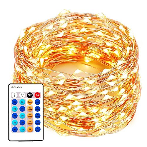 xtf2015 99FT 300LEDs String Lights, Waterproof Dimmable Decorative...