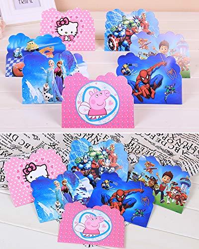Image 5 - Qemsele Invitations, 30 Cartes + 30 Enveloppes pour fêtes d'anniversaire d'enfants Anglais Invitation à Une fête d'anniversaire pour Enfant garçons et Filles (4.3 * 5.5 Pouces (11 * 14cm), LOL)