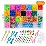 FORMIZON Loom Bands, 6800 Kit Completo, 22 Colores, Kit de CREA de Brazaletes y Loom Juguetes, Juego Creativo para Niños