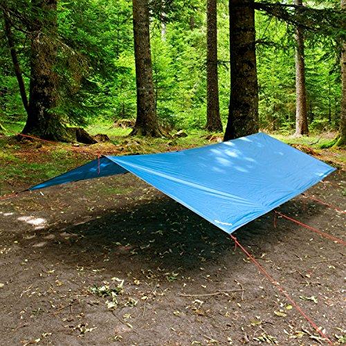 Wanderlust Tarp Sonnensegel | Windschutz in blau - Größe: 300 x 300 cm
