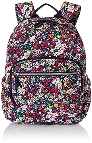 Vera Bradley Women's Signature Cotton Campus Backpack, Itsy Ditsy, One Size
