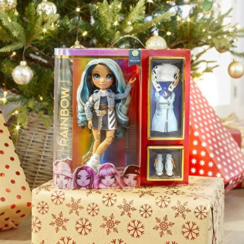 Image 1 - Rainbow High Poupée Mannequin - Skyler Bradshaw – Poupée thème bleu avec tenues luxueuses, accessoires et socle - Série 1 - Parfait pour les filles de 6 ans et plus