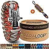 Paraloop Original Paracorde Bracelet pour Homme + Pendentif avec Sifflet Tressé à la Main dans Un...