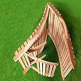 Divero Luxus Relaxliege Sonnenliege Strandliege Gartenliege aus Teak-Holz/Akazie mehrfach verstellbar behandelt braun reine Handarbeit faltbar klappbar mit Tragegriff (Teak) - 3