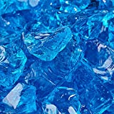 Bermuda Blue - Crushed Fire Glass for Indoor and Outdoor Fire Pits or Fireplaces | 10 Pounds | 1/2 Inch - 3/4 Inch
