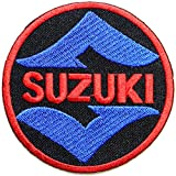 SUZUKI Motorcycle Logo Motocross Motogp Sign Biker Racing Patch Sew Iron on Applique Embroidered T shirt Jacket Custom Gift BY SURAPAN
