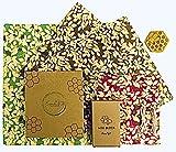 Emballage Cire d'abeille Bio - Beeswax Wrap- Zéro Déchet, Emballage Alimentaire Reutilisable | Ecologique, Durable, Biodégradable, Remplace l'Emballage Plastique | Lot de 1 Petit, 2 Moyen Et 1 Grand