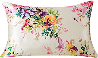 SLPBABY Silk Pillowcase for Hair and Skin with Hidden Zipper Print (Standard, Pattern5)