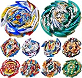 teraut Gyros 10 Pieces Pack, Battling Top Battle Burst High Performance Set, Birthday Party School Gift Idea Toys for Boys Kids Children Age 8+