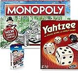 Classic Monopoly, Monopoly Deal, & Classic Yahtzee Bundle  Exclusively Bundled by Brishan